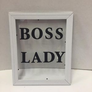 Other - Glass frame with letters